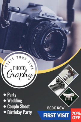 Online Editable Photography Studio for All Events Instagram Post