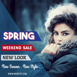 Online Editable Spring Weekend Sale Instagram Post