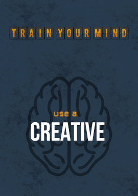 Online Editable Creative Thinking Skills Training Poster