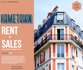 Online Editable Hometown Real Estate Rent and Sale Facebook Post