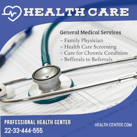 Online Editable Professional Healthcare Centre Instagram Post