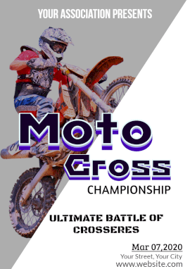 Online Editable Motocross Championship A4 Document