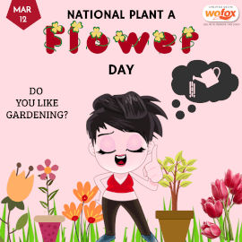 Online Editable National Plant a Flower Day March 12 Instagram Post