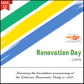 Online Editable Renovation Day in Gabon March 12 Instagram Post
