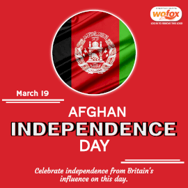 Online Editable Afghan Independence Day August 19 Instagram Post