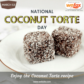 Online Editable National Coconut Torte Day March 13 Instagram Post