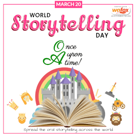 Online Editable World Storytelling Day March 20 Instagram Post