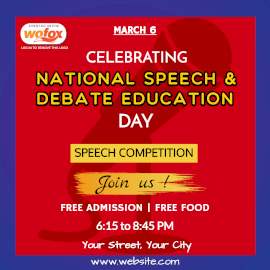 Online Editable National Speech and Debate Education Day Instagram Post