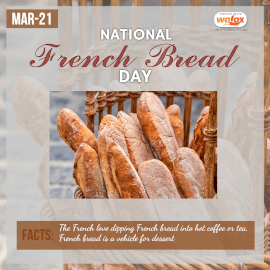 Online Editable National French Bread Day March 21 Instagram Post