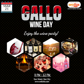 Online Editable Gallo Wine Day March 21 Instagram Post