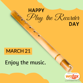 Online Editable Play the Recorder Day Instagram Post
