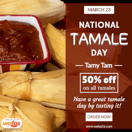 Online Editable National Tamale Day March 23 Instagram Post