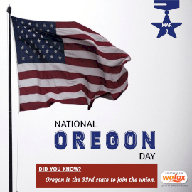 Online Editable National Oregon Day March 8 Instagram Post