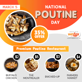 Online Editable National Poutine Day (Canada) March 5 Instagram Post
