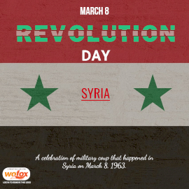Online Editable Revolution Day in Syria March 8 Instagram Post