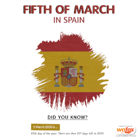 Online Editable Fifth of March in Spain Instagram Post