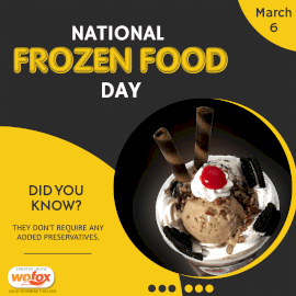 Online Editable National Frozen Food Day March 6 Instagram Post