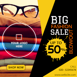 Online Editable Big Fashion Sale Instagram Post