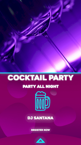 Online Editable Cocktail Party at Nightclub Instagram Story Video