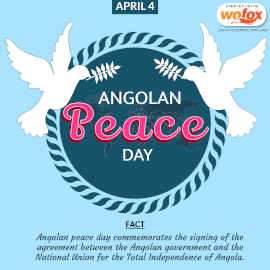 Online Editable Peace Day in Angola April 4 Instagram Post
