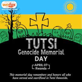 Online Editable Tutsi Genocide Memorial Day April 7 Instagram Post