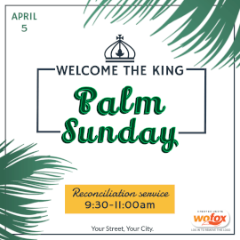 Online Editable Palm Sunday Instagram Post