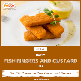 Online Editable Fish Fingers and Custard Day April 3 Instagram Post
