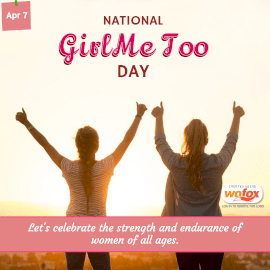 Online Editable National Girl, Me Too Day April 7 Instagram Post