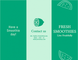 Online Editable Fresh Juice and Smoothie Brochure