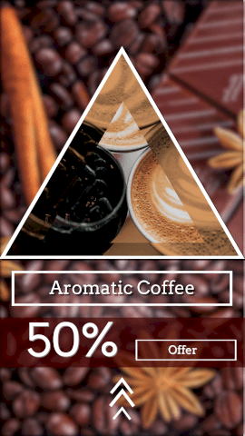 Online Editable Hot Aromatic Coffee Offer Instagram Story Video
