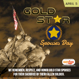 Online Editable Gold Star Spouses Day April 5 Instagram Post