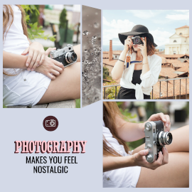 Online Editable Freelance Photographer 3 Grid Photo Collage
