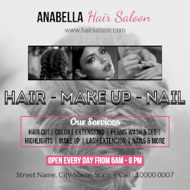 Online Editable Anabella Hair, Nails and Beauty Salon Instagram Post