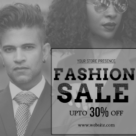 Online Editable Fashion Sale 30% Off Instagram Post