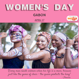 Online Editable Women's Rights Day in Gabon April 17 Instagram Post