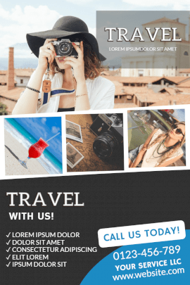 Online Editable Travel and Tourism Agency Pinterest Graphic