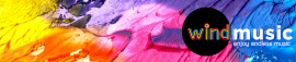 Online Editable Colorful Painting Wind Music Soundcloud Banner