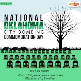 Online Editable National Oklahoma City Bombing Commemoration Day April 19 Instagram Post