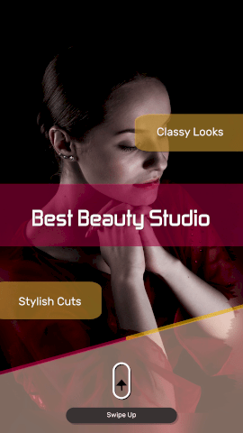Online Editable Hair and Beauty Salon Instagram Story Video Maker
