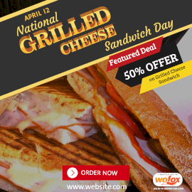 Online Editable National Grilled Cheese Sandwich Day April 12 Instagram Post