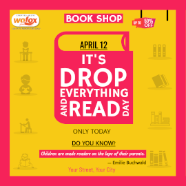 Online Editable Drop Everything and Read Day April 12 Instagram Post