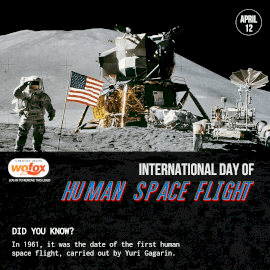 Online Editable International Day of Human Space Flight April 12 Instagram Post