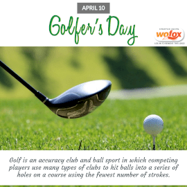 Online Editable Golfer's Day April 10 Instagram Post