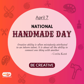 Online Editable National Handmade Day Instagram Post