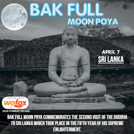 Online Editable Bak Full Moon Poya in Sri Lanka Instagram Post