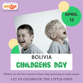 Online Editable Children's Day in Bolivia April 12 Instagram Post