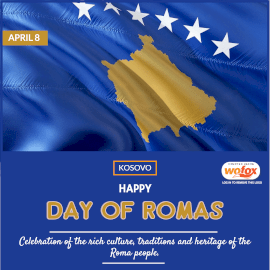 Online Editable Day of Romas in Kosovo April 8 Instagram Post
