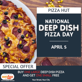 Online Editable National Deep Dish Pizza Day April 5 Instagram Post