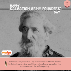 Online Editable Happy Salvation Army Founders' Day April 10 Instagram Post