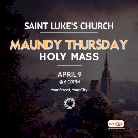 Online Editable Maundy Thursday Instagram Post